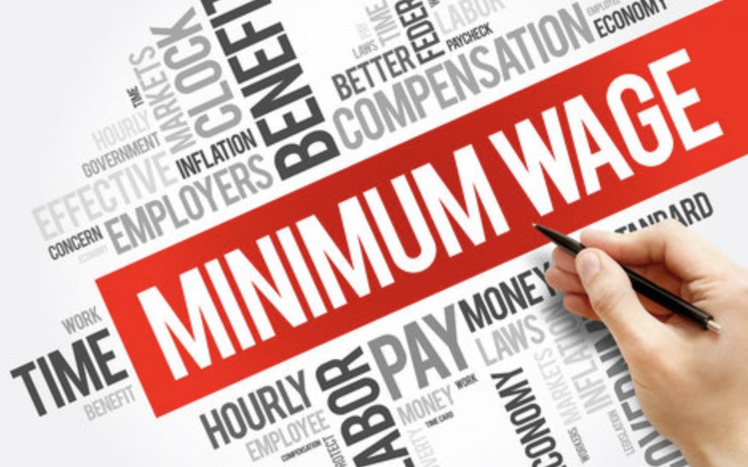 Minimum wage increase in California January 1, 2021